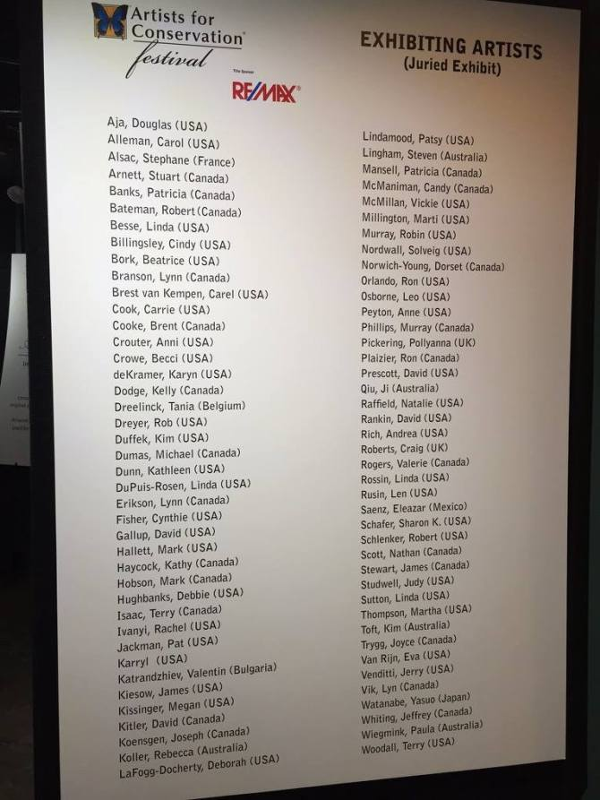 AFC Exhibit list